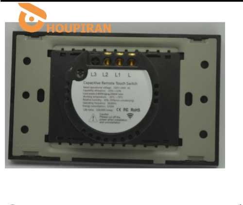 2gang 2way remote RF433 switch ,1000Wgang,2000W total